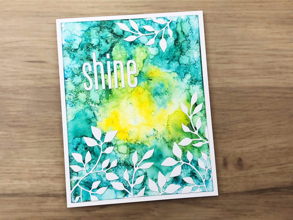 textured two colour shimmer powder card
