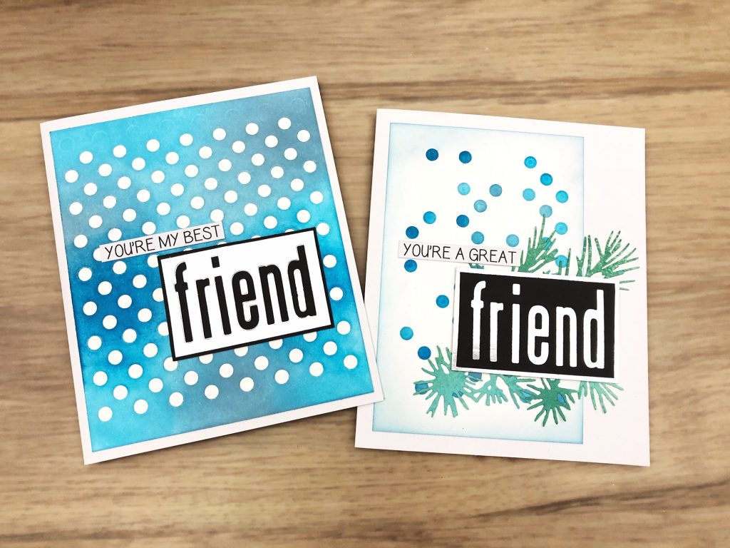 festive repeat friendship cards