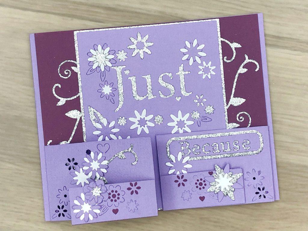 double tri-fold card