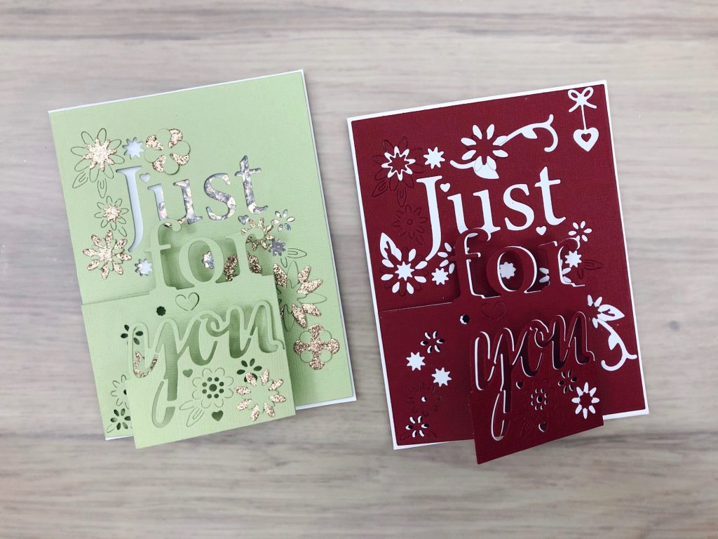 tri-fold and tri-fold shaker card
