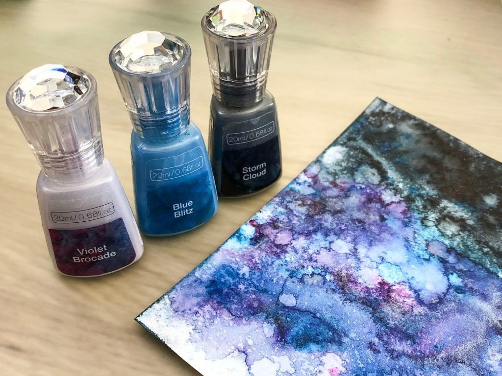three colour shimmer powder night sky