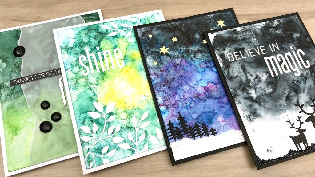 Shimmer Powder backgrounds and card ideas