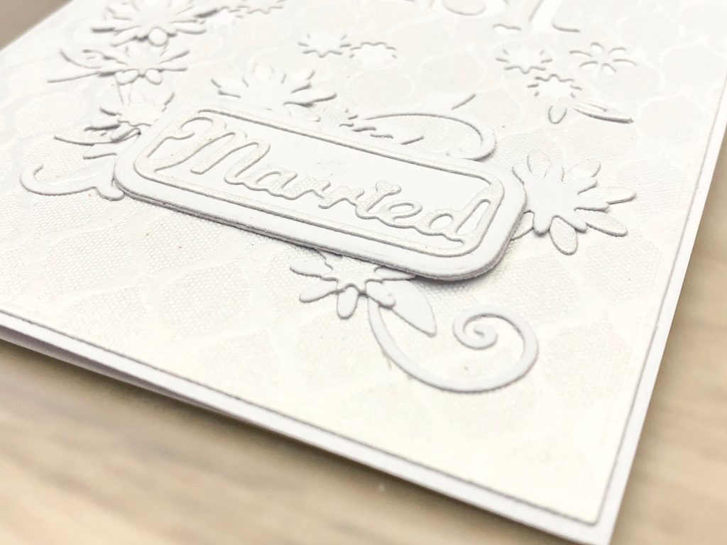 closeup white card