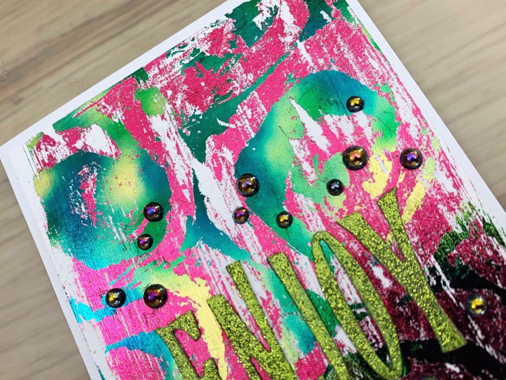 multi colour foil background