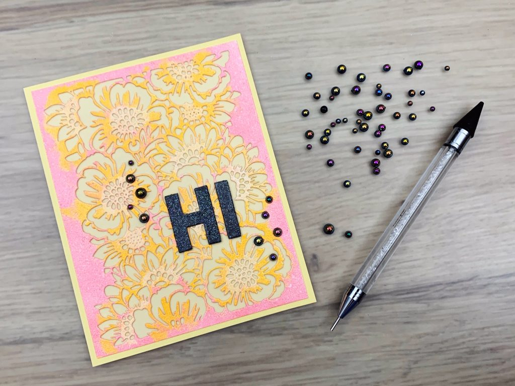 multi colour embossing pearls