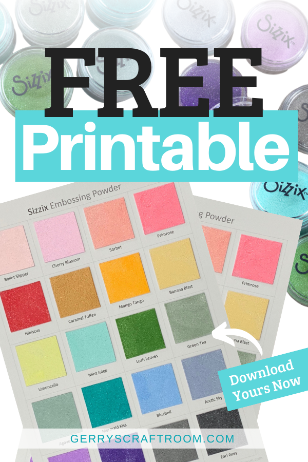 Free Printable colour chart