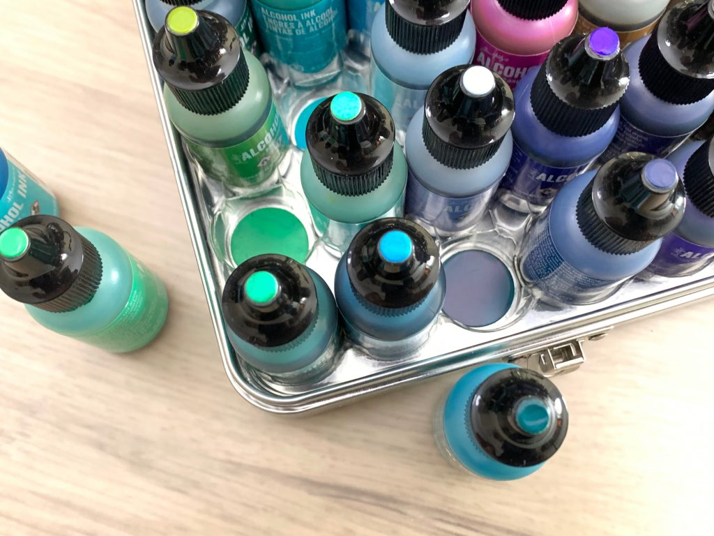 alcohol ink storage and organization