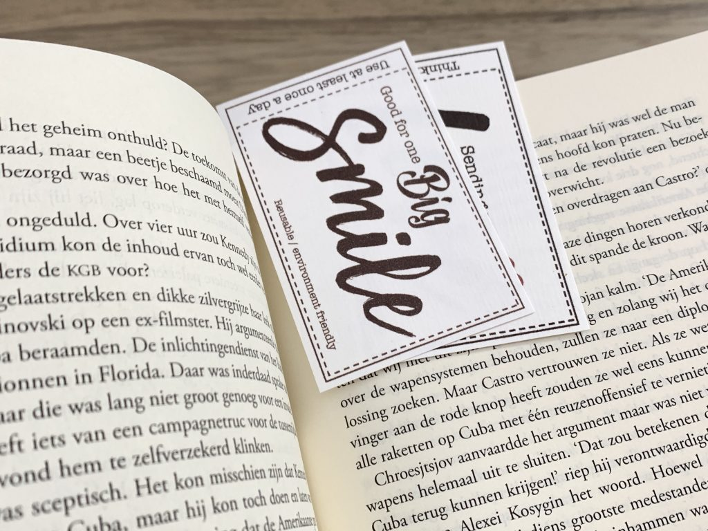 cards and tickets as bookmark