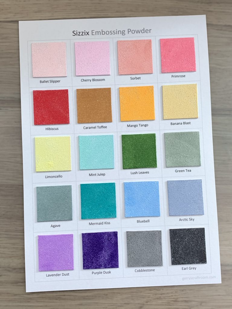 sizzix embossing powders