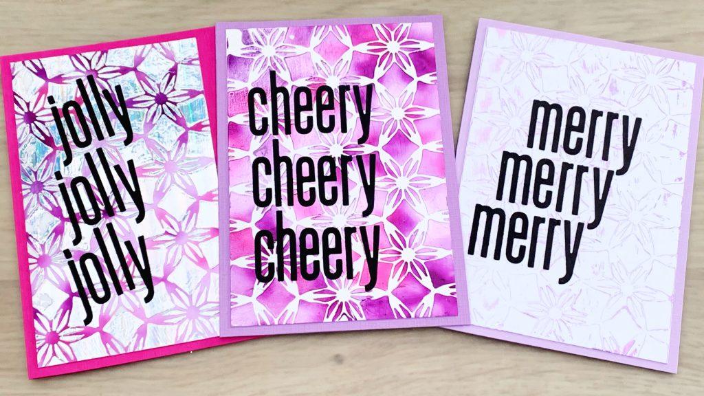 3 cards 3 techniques