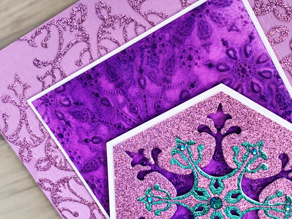 stunning cards for favorite people purple