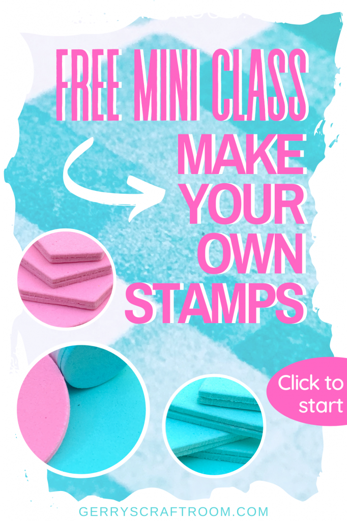 make your own stamps mini class pin
