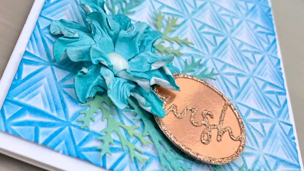 layers embossing and flower